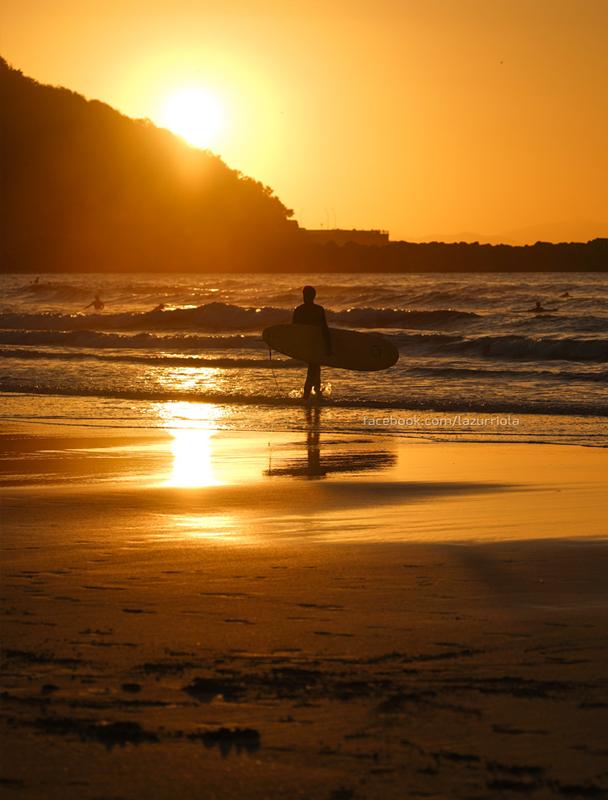 Zurriola Longboard Sunset - Fotos de San Sebastián