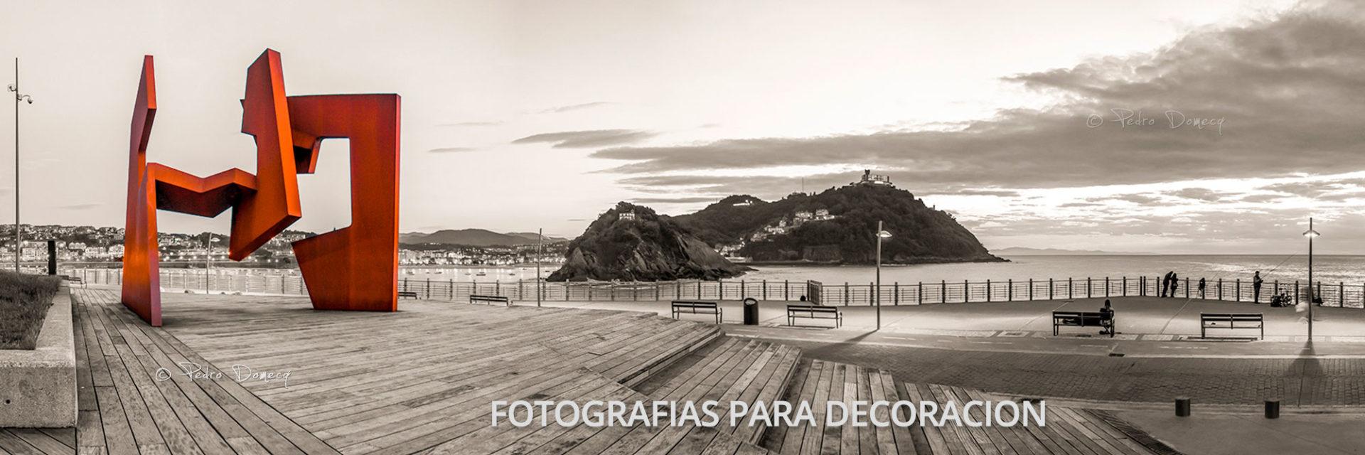 Escultura de Oteiza en el Paseo Nuevo - Fotos de San Sebastián