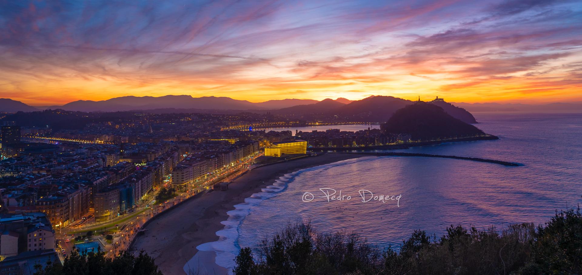 Atardecer en San Sebastián