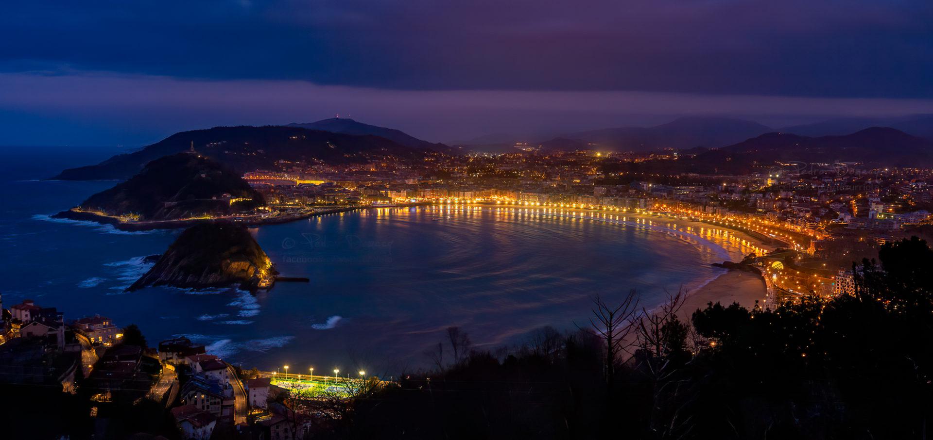 Donostia - Anochecer Bahía de la Concha